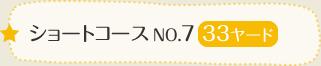 ショートコースNo.7 33ヤード